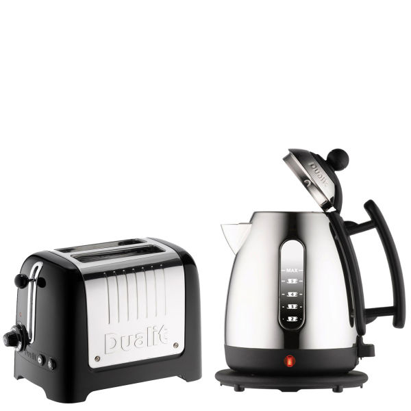 Dualit Jug Kettle and 2 Slot Toaster Bundle - Black