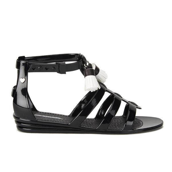 Love Moschino Women's Tassel Jelly Sandals - Black