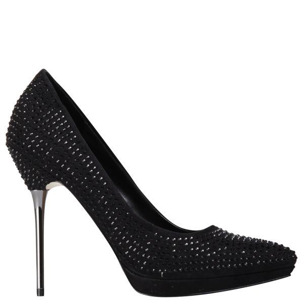 Carvela Women's Gamine Suedette Heeled Court Shoes - Black