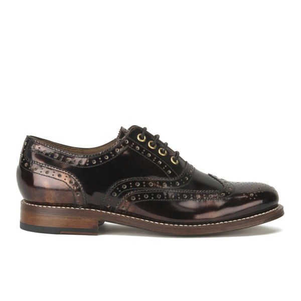 Grenson Women's Rose Leather Brogues - Copper