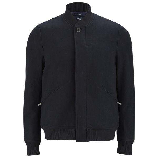 Paul Smith Jeans Men S Melton Wool Varsity Bomber Jacket
