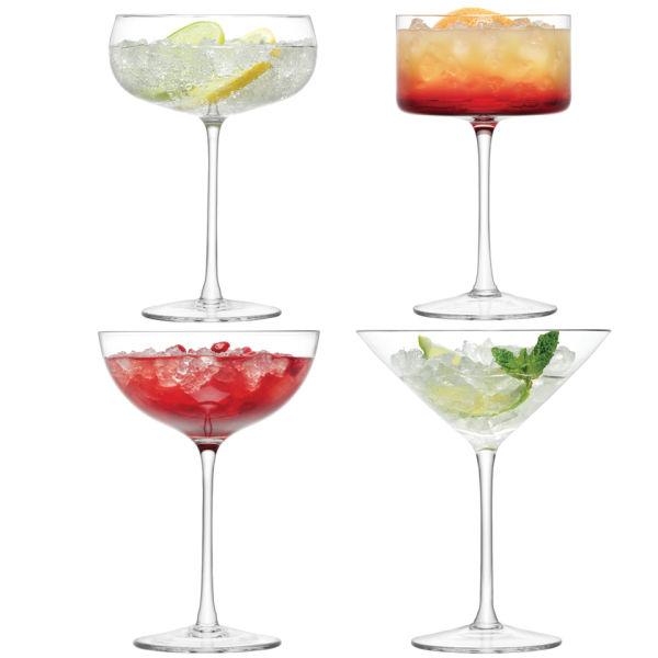 LSA Lulu Champagne & Cocktail Glasses (Set of 4)