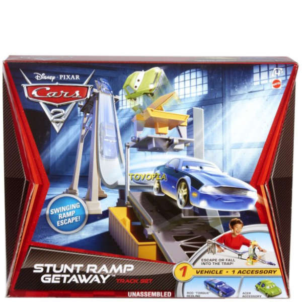 Cars 2 - Track Set Stunt Ramp Getaway Merchandise
