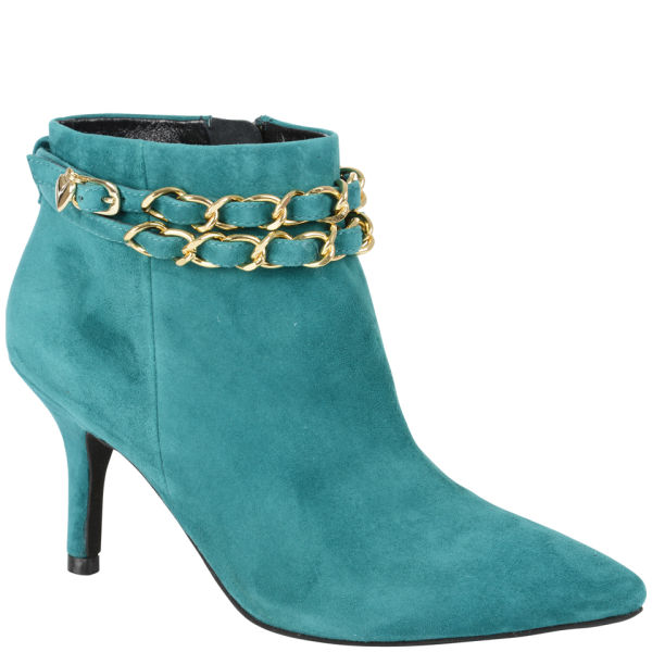 Love Moschino Women S Heeled Ankle Boots Teal Free Uk