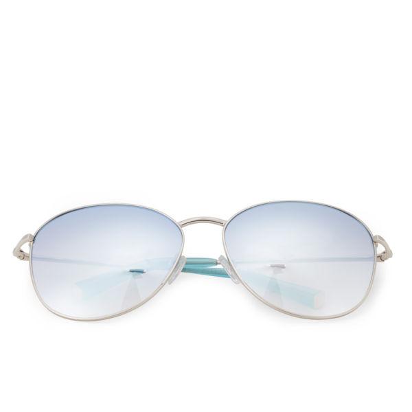 Matthew Williamson Mirror Lens Aviator Sunglasses - Jade