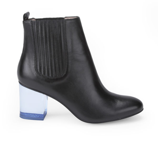 Opening Ceremony Women's Brenda Heeled Leather Ankle Boots - Jet Black