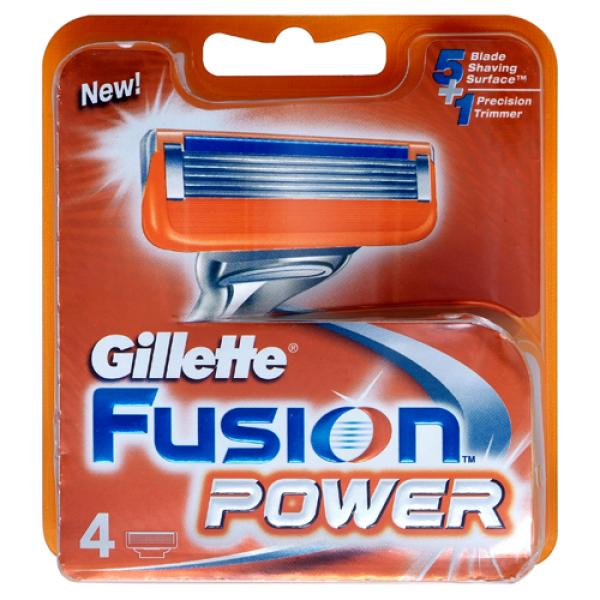 Gillette Fusion Power Blades (4 Pack)