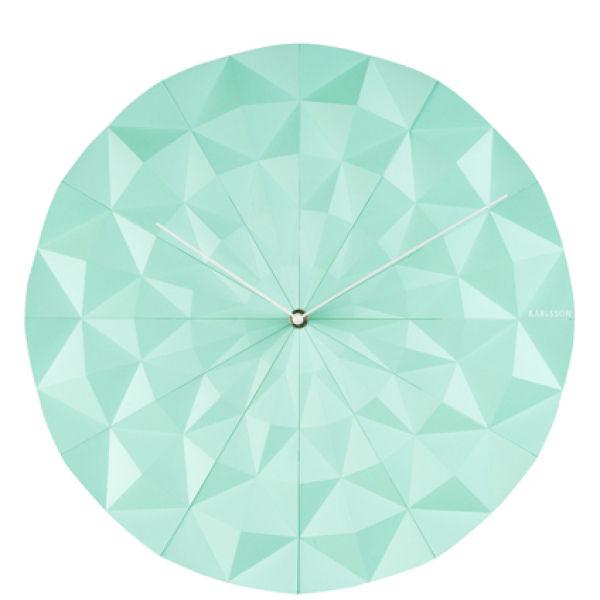 Karlsson Wall Clock Facet Mint Green Buy Online Mankind