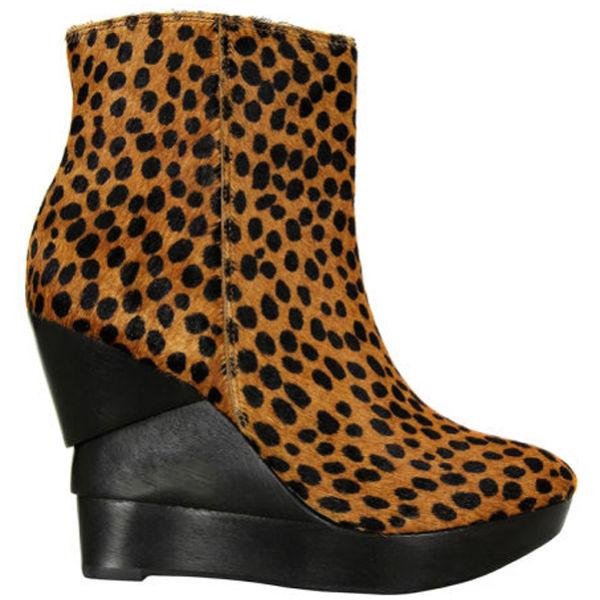 Diane von Furstenberg Women's Opalista Spotted Pony Boots - Tan and Chocolate
