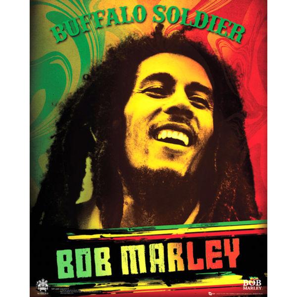 Bob Marley Buffalo Soldier - Mini Poster - 40 x 50cm