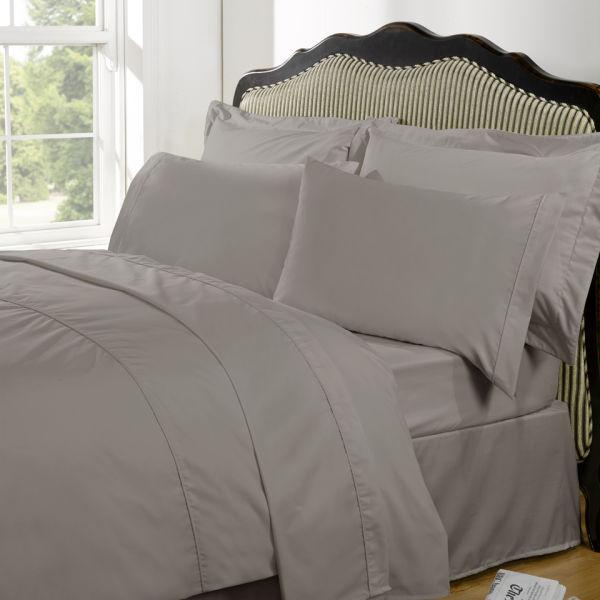 Highams 100% Egyptian Cotton Plain Dyed Fitted Sheet - Portobello