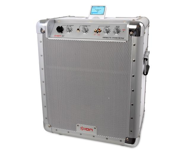Ion Block Rocker Portable Pa Speaker System With Ipod Dock