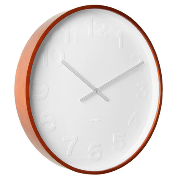 Karlsson wall clock mr white iwoot - Mondaine wall clock cm ...
