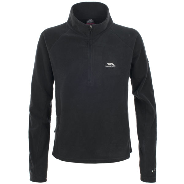 Trespass Women's Shiner 1/2 Zip Fleece - Black