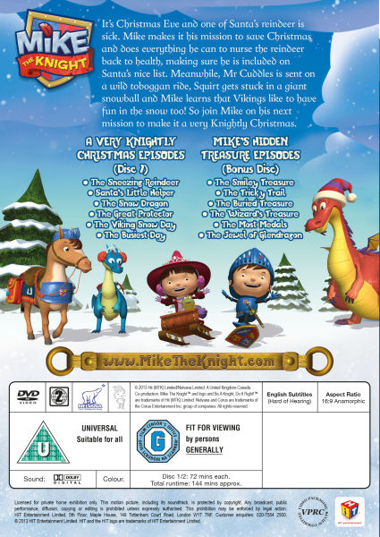 New Action Games For Ps3 : Mike the knight a very knightly christmas dvd zavvi