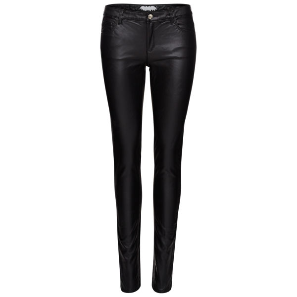 Zoe Karssen Women's Body Rock Mid Rise PU Gloss Jeans - Black