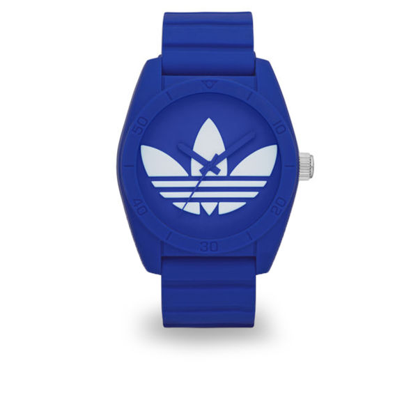 0ec8d8b21633 adidas Originals Watches Santiago 42mm Silicone Watch - Blue