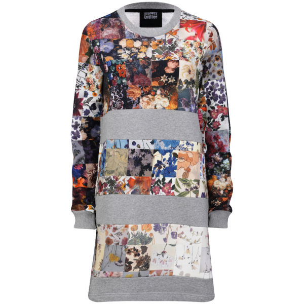 Markus Lupfer Women s Sweatshirt Dress - Grey Floral - Free UK Delivery  over £50 07a2493f8