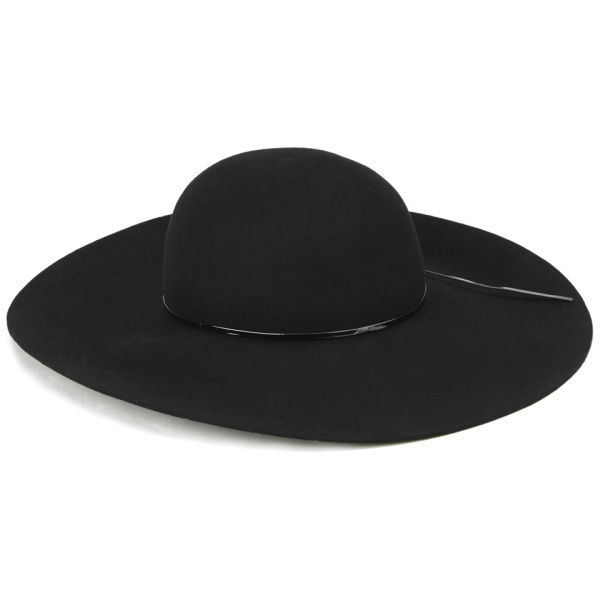 French Connection Ziggy Floppy Hat - Black Womens Accessories ... 78ffbe6522c