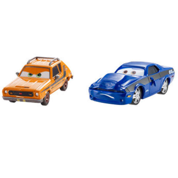 Cars 2 Grem And Damaged Rod Torque Redline Diecast Two