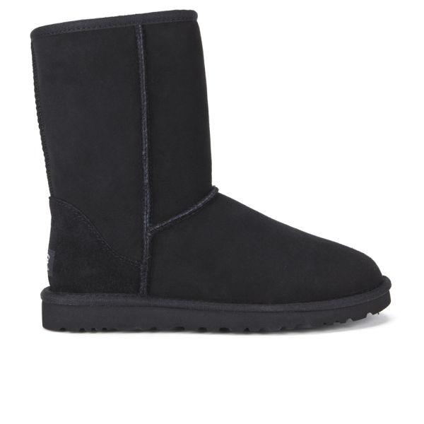 UGG Women's Classic Short Sheepskin Boots - Black