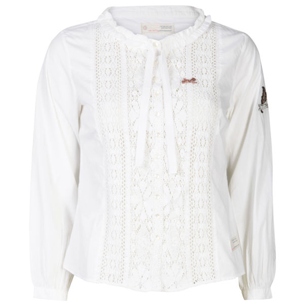 Odd Molly Women's Grandmas Lace Shirt - White