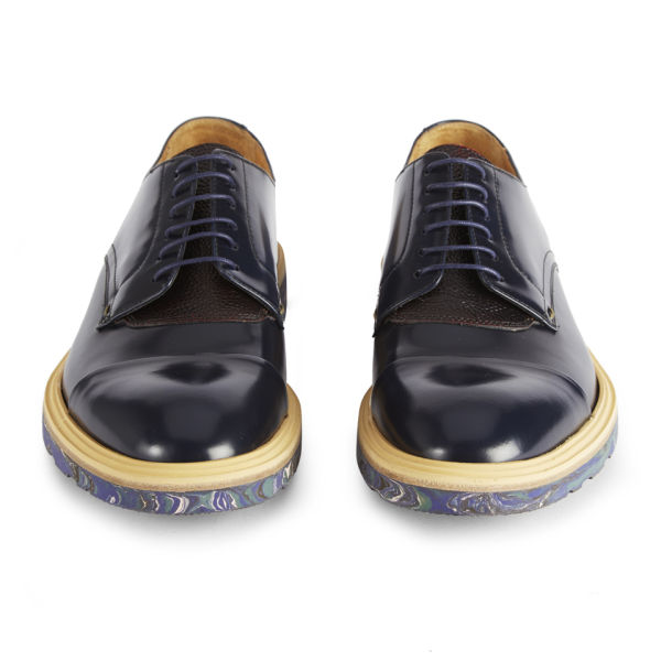 7a318d1c9808 Paul Smith Shoes Men s Thom Leather Shoes - Navy City Brush Off Marble Print  Sole