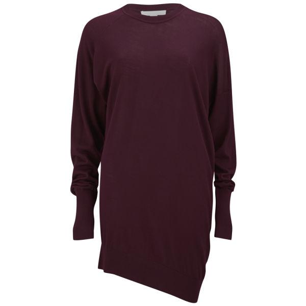 Alexander Wang Women's Drapey Asymmetric Sweater Dress - Oxblood 612