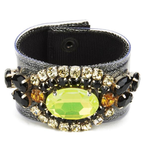 Matthew Williamson Opulent Jewelled Cuff - Black