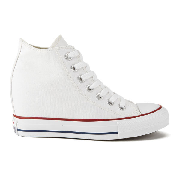 428786b0803e27 Converse Women s Chuck Taylor All Star Lux Hidden Wedge Canvas Trainers -  White  Image 1