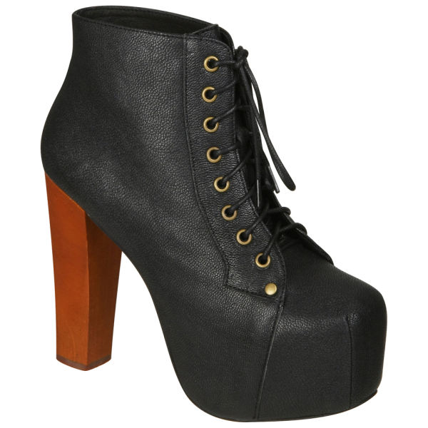 7a8703135cb3 Jeffrey Campbell Women s Lita Shoes - Black Leather  Image 1