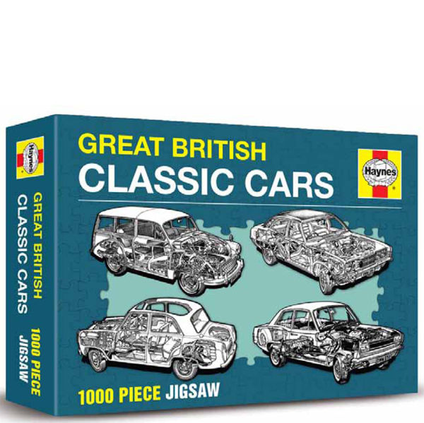 Great British Cars Haynes Edition Jigsaw