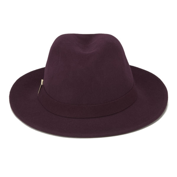 French Connection Ame Trilby Hat - Wine