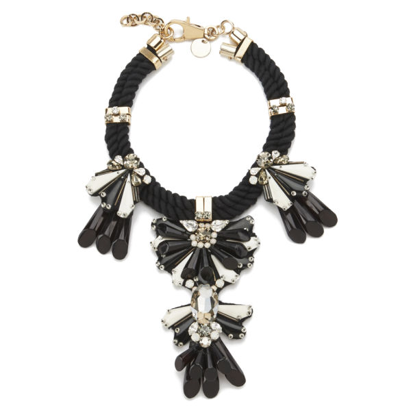 Matthew Williamson Enamel Jewel Rope Necklace - Black