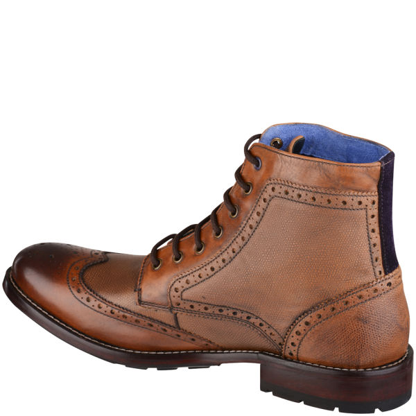 Ted Baker Men's Sealls Leather Brogue Ankle Boots - Tan: Image 2