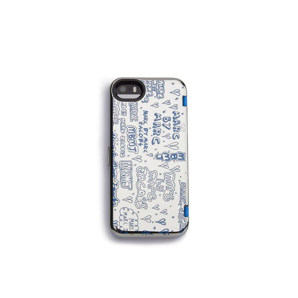 Marc by Marc Jacobs Scribble Mirror iPhone 5 Case - Silver Multi