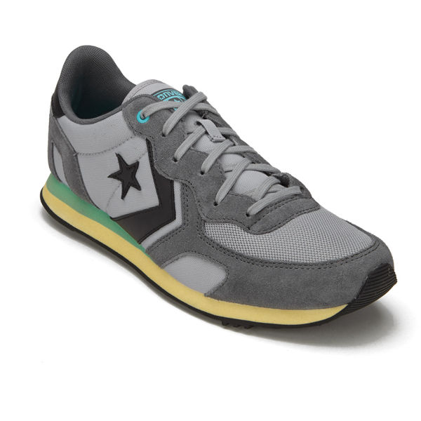 Converse CONS Men's Auckland Racer Washed Canvas Trainers Dolphin: Image 4