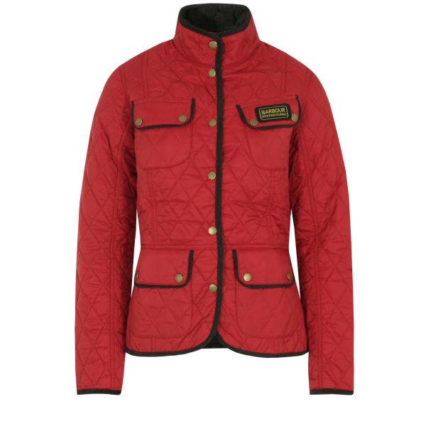 Barbour Women's Red & Summer Vintage International Jacket - Black
