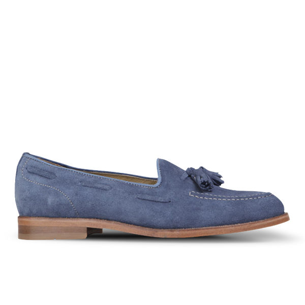 Hudson London Women's Stanford Suede Loafers - Blue