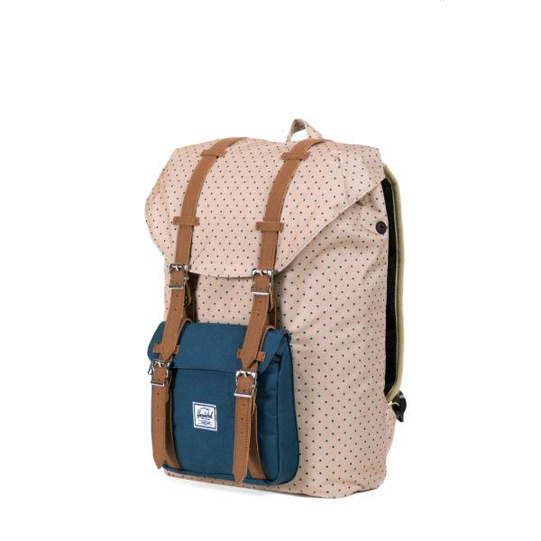 a8200d76be Herschel Supply Co. Little America Mid-Volume Backpack - Khaki Polka Dot  Navy