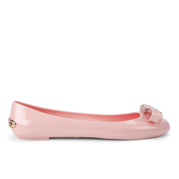 Ted Baker Women S Escinta Bow Front Ballet Shoes Light