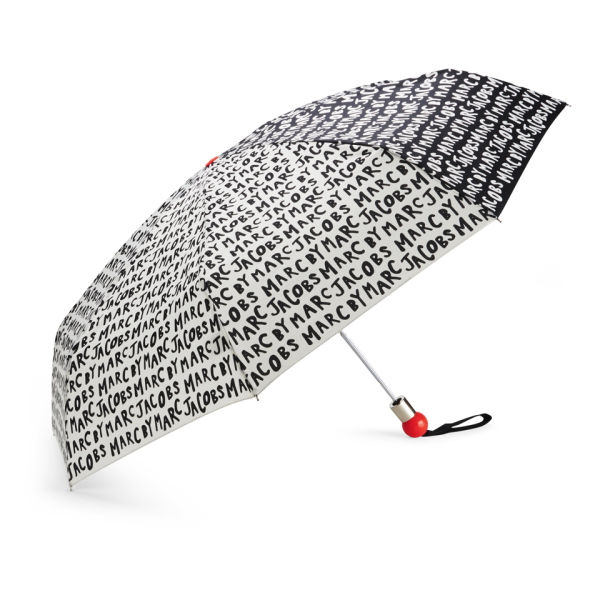Marc by Marc Jacobs Logo Umbrella - Black/White Multi