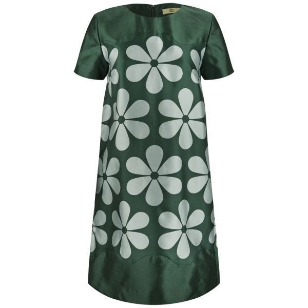 Orla Kiely Women's Giant Snowdrop Silk and Wool Mix Tunic Dress - Malachite