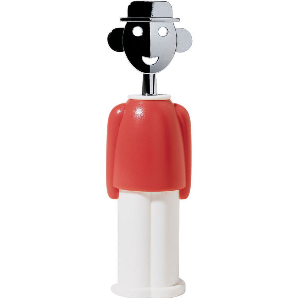 Alessi Alessandro M. Corkscrew - Red/White