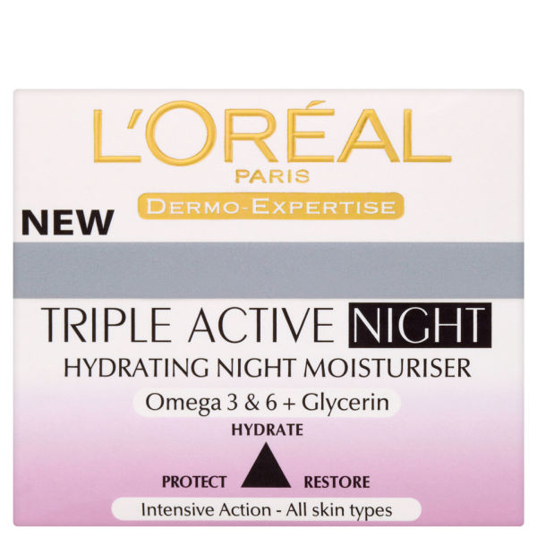 L'Oreal Paris Dermo Expertise Triple Active Hydrating Night Moisturiser (50ml)