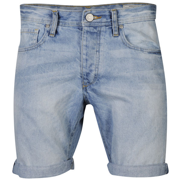 Jack & Jones Men's Rick Original Denim Shorts - Light Wash Mens ...