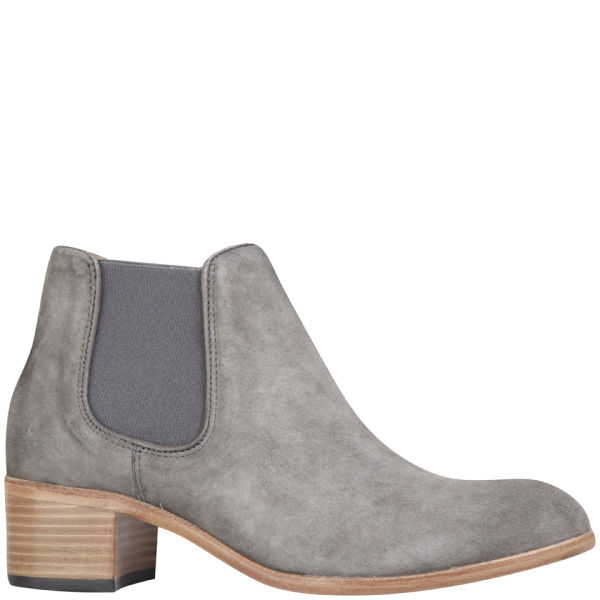 H Shoes by Hudson Women's Bronte Suede Heeled Chelsea Boots - Grey