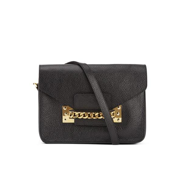 Sophie Hulme Women S Chain Envelope Leather Cross Body Bag Black