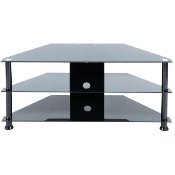LEVV Black TV Stand For Up To 42 Inch TVs Homeware