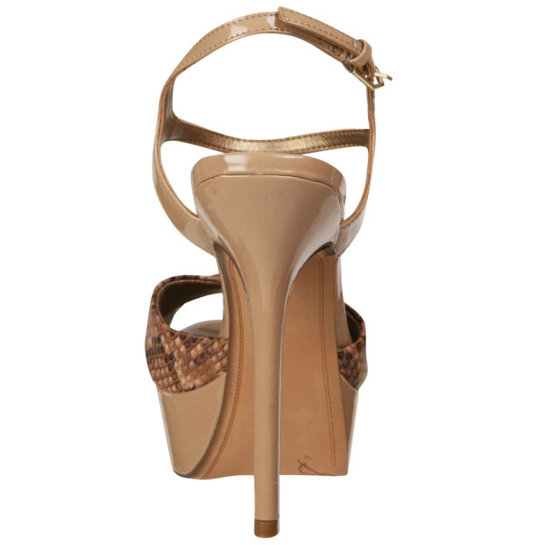 267837c77418 Sam Edelman Women s Mason Snakeskin Heels - Nude  Image 5